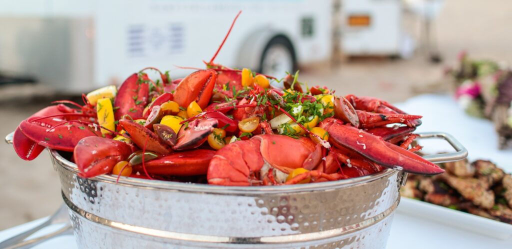 Special Events permit, a photo of cooked lobster